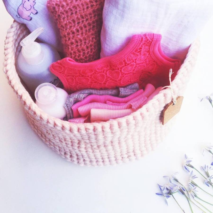 Quick and Easy Crochet Baby Basket