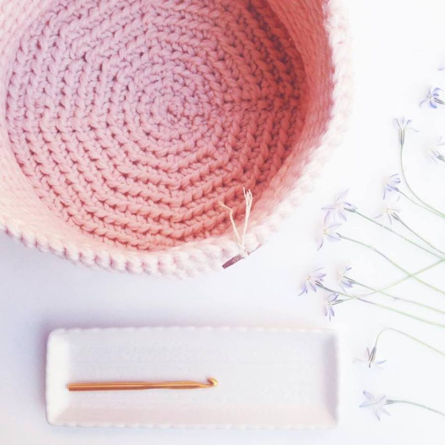 Quick and Easy Crochet Basket